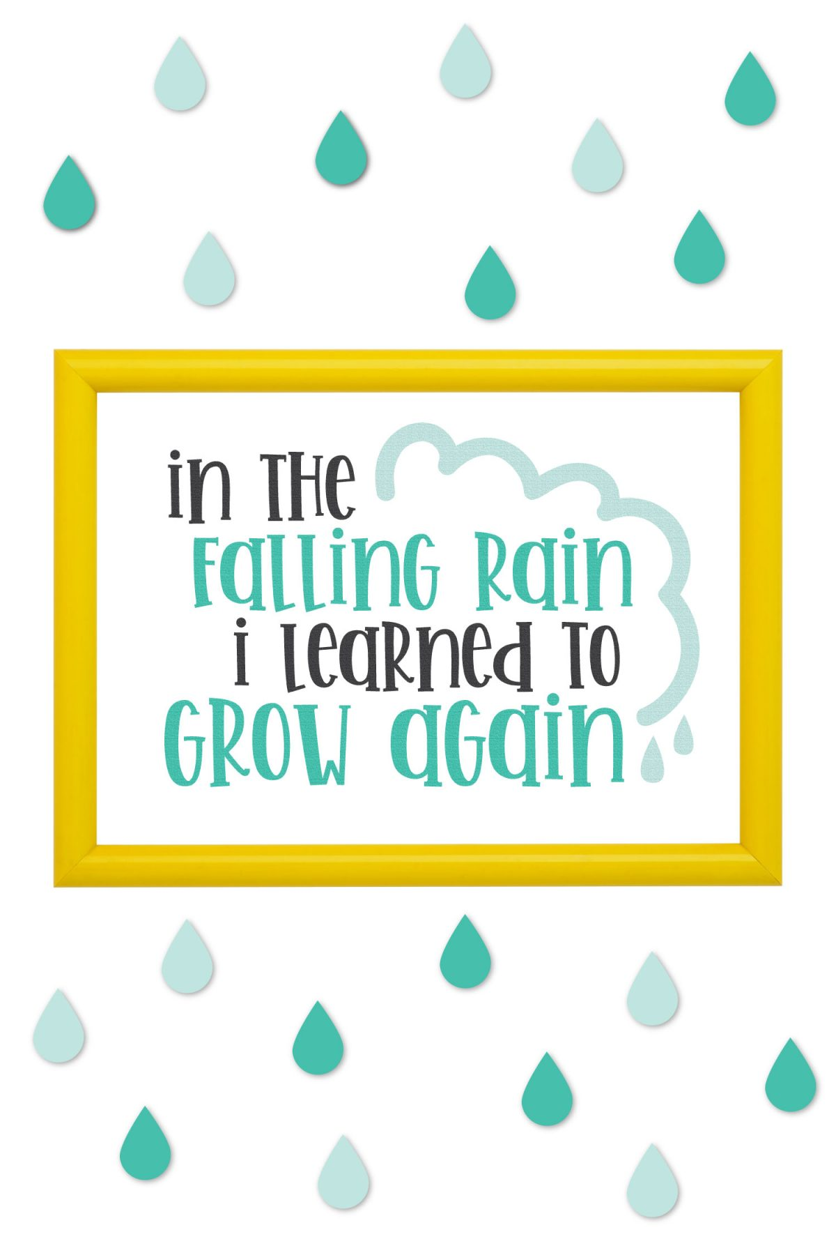 Spring is just around the corner, which means rain, which means new flowers and growth all around! If you're a fan of rainy days—or simply need a reminder to embrace them—then use these Rain SVGs to create whimsical home decor items to brighten even the rainiest of days!