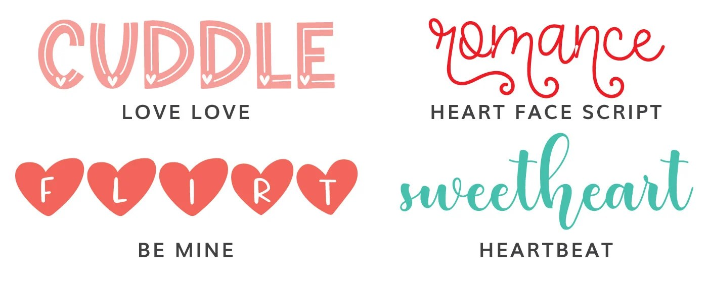 Four Valentine's Day Fonts