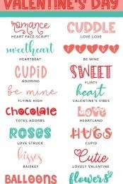 Best Valentine's Day Fonts pin image