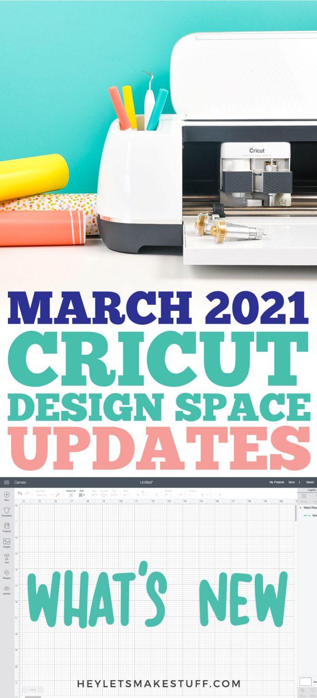 March 2021 Cricut Design Space Updates pin image