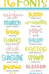 Spring and Easter Fonts Pin Image