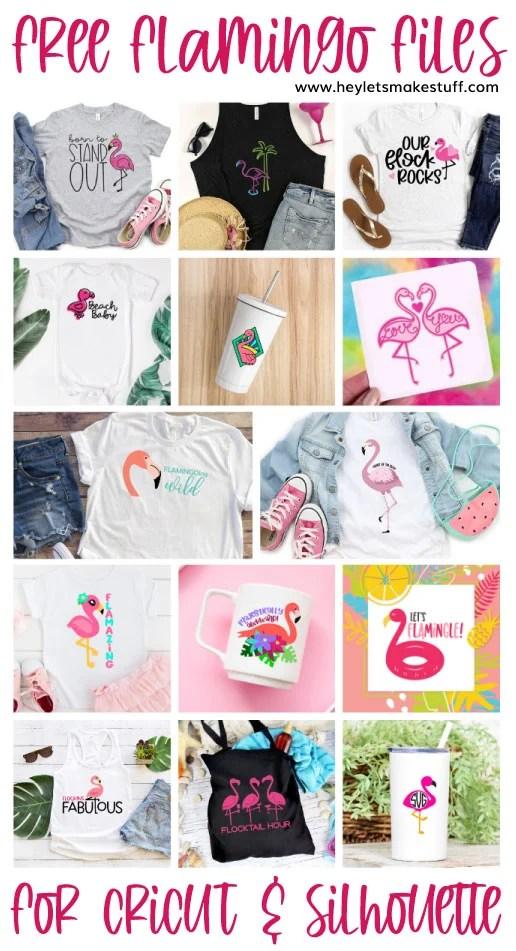 14 Free Flamingo SVG Files pin image