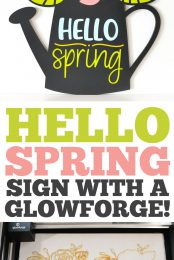 Hello Spring Sign with a Glowforge pin image
