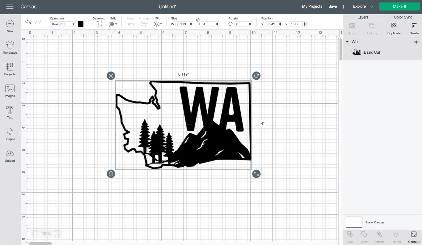 Cricut Design Space: Washington State image