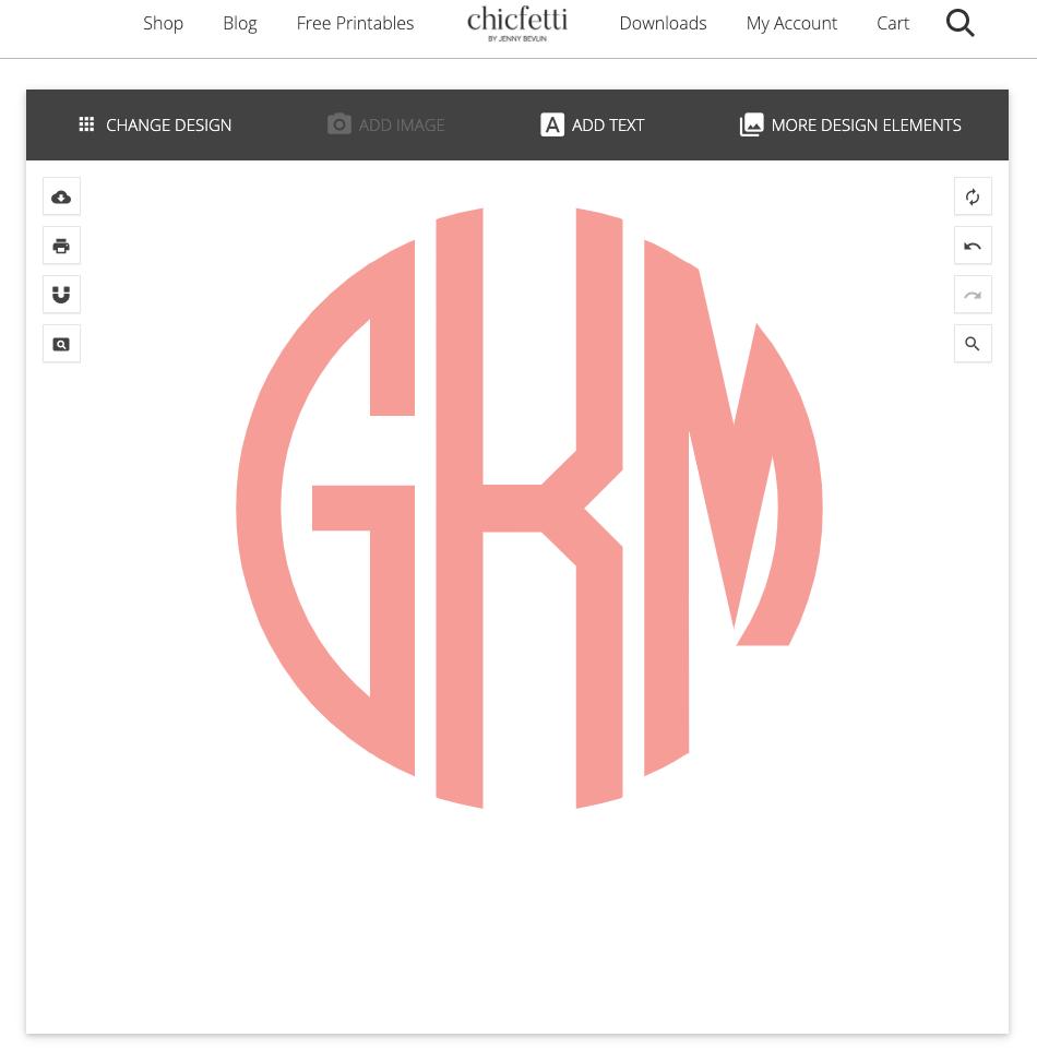 Chifetti Monogram Creator: Round Monogram GKM