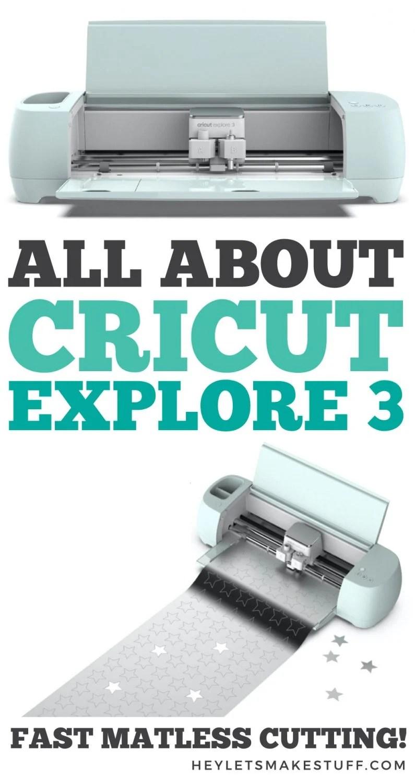 Pin image: all about Cricut Explore 3