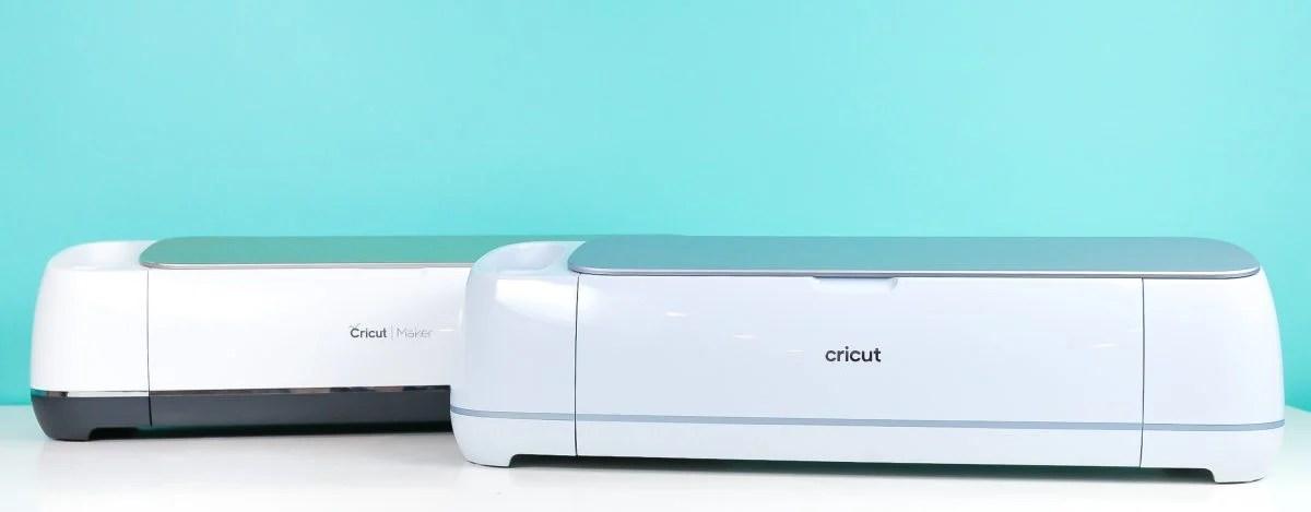 Closed Cricut Maker and Cricut Maker 3 to show color comparison