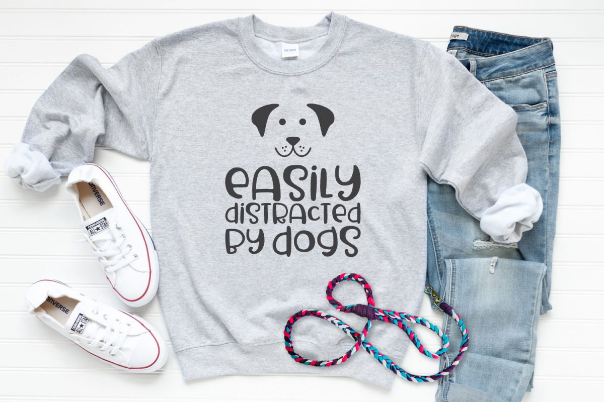 Easily Distracted by Dogs SVG Image