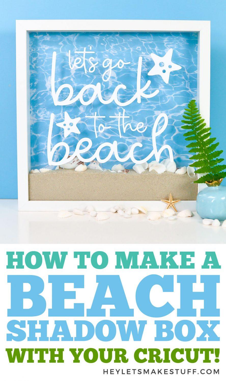 Cricut beach shadow box pin image