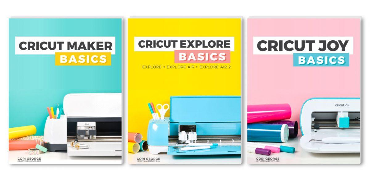 Three Cricut Basics Book Covers