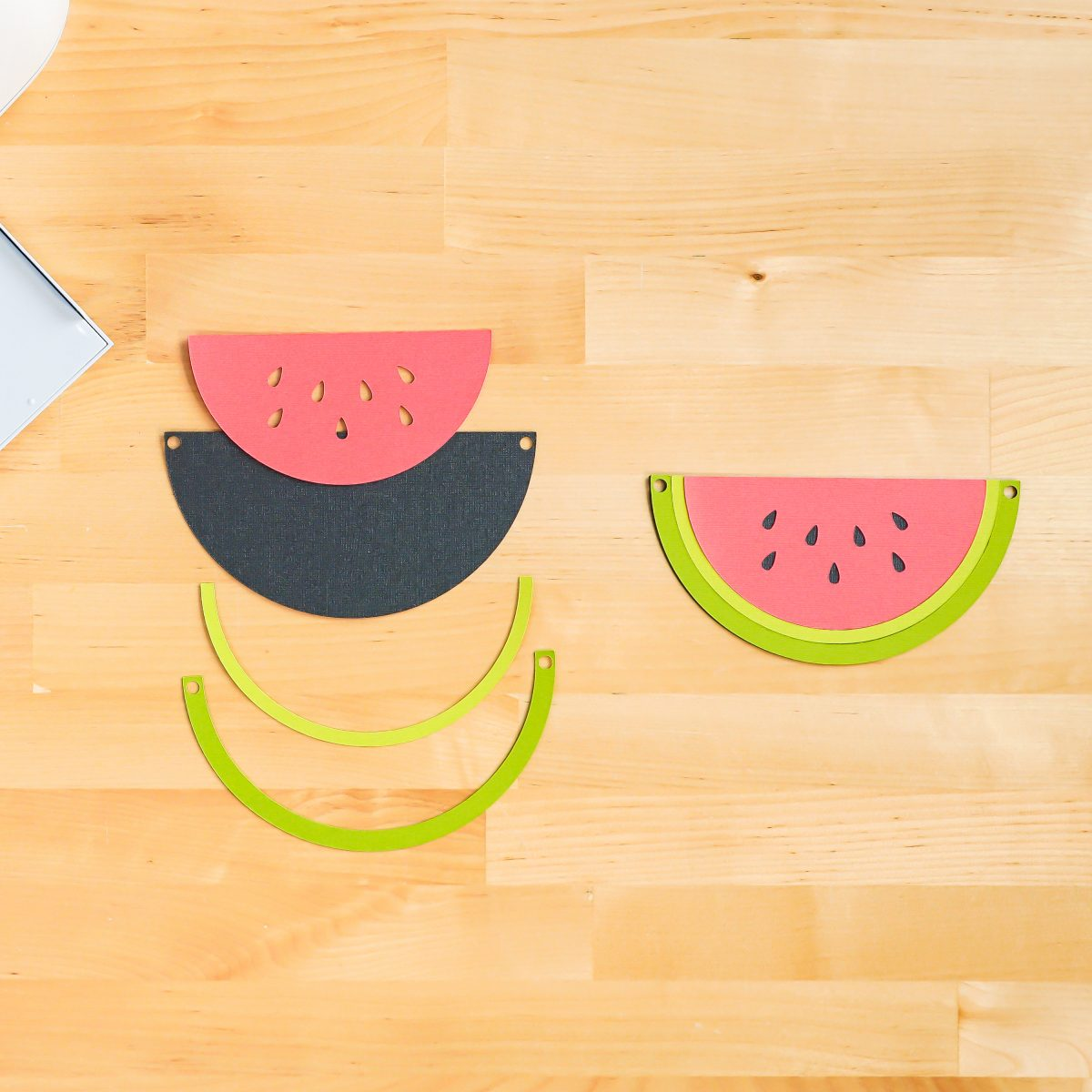 How to assemble the watermelon
