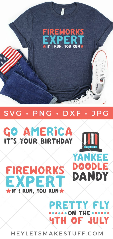 Funny 4th of July SVG Bundle pin image