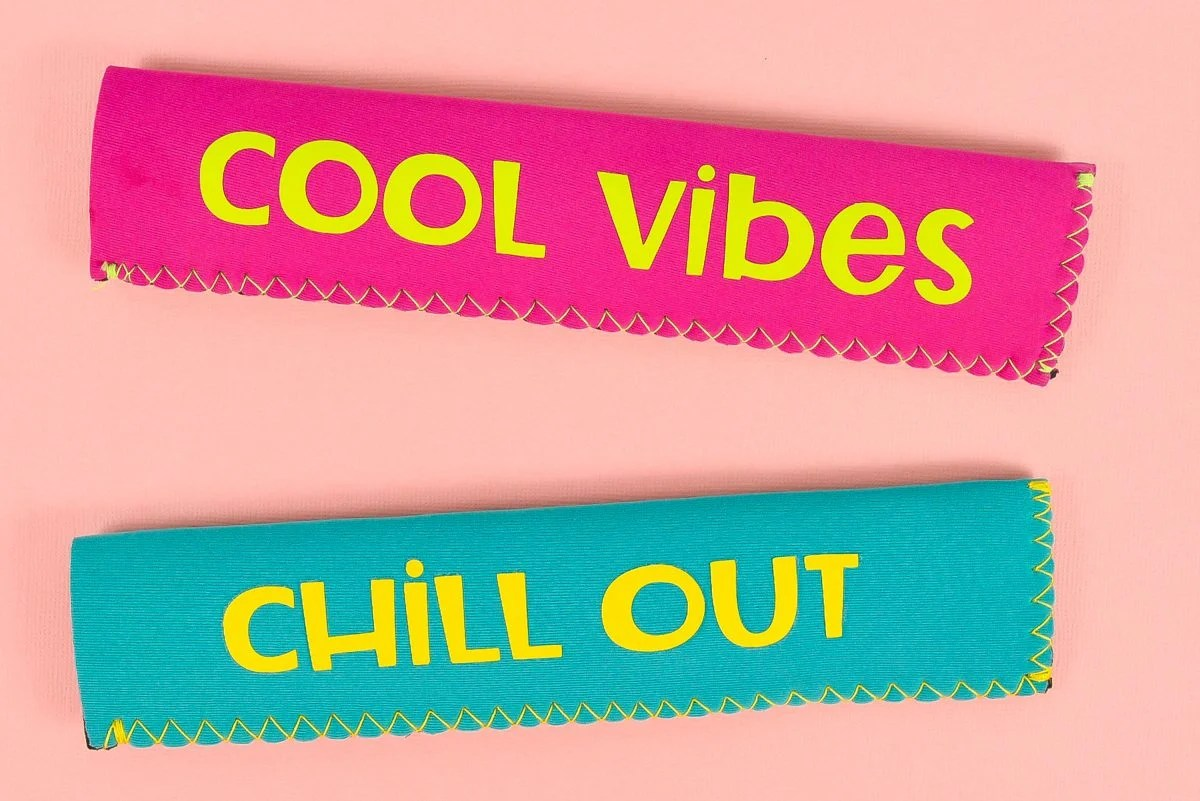 Finished ice pop holders on pink background