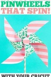Spinning paper pinwheels pin