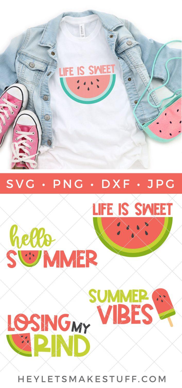 Watermelon SVG bundle pin image