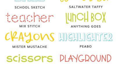 All the school fonts featured in this post