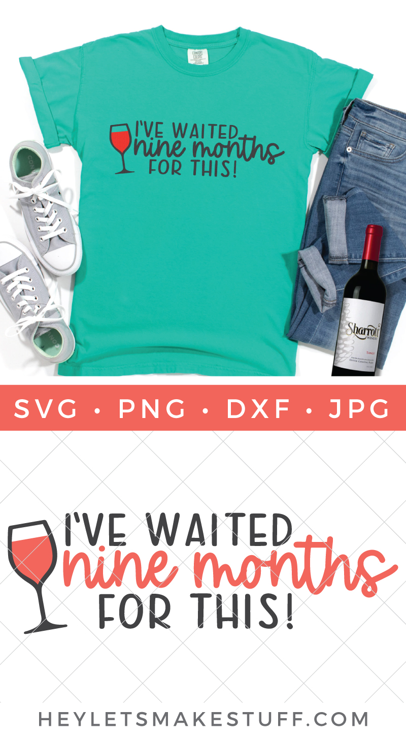 Free wine SVG pin image