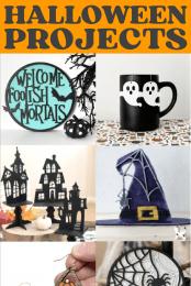 Glowforge Halloween Ideas Pin Image