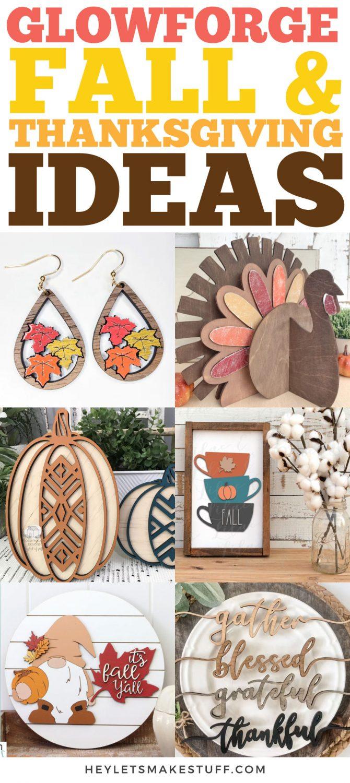 Glowforge Fall and Thanksgiving Ideas Pin #1
