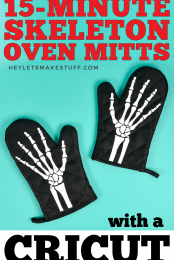 Skeleton Oven Mitts Pin Image #2