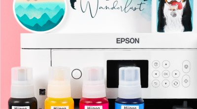 Epson printer, Hiipoo Sublimation Ink, and several sublimation projects