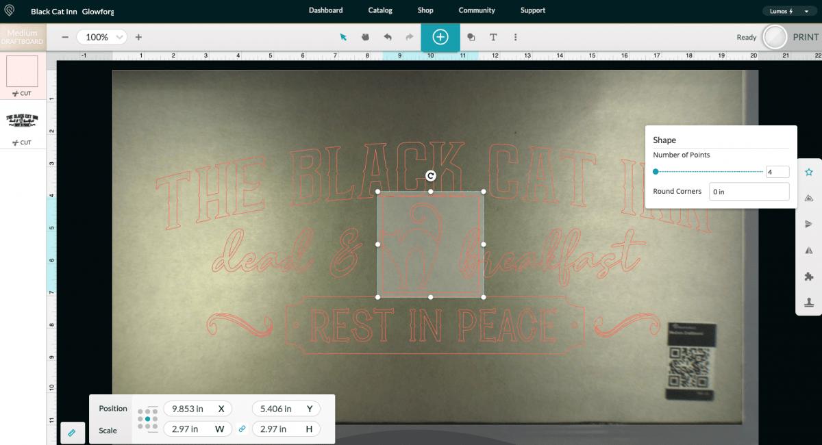 Glowforge App: Add square