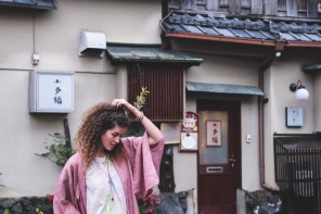 My first Outfit from Japan – Kimono and Stripes