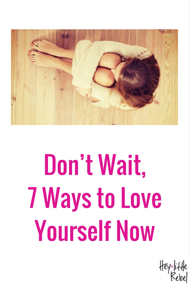 I always tell people to start love yourself NOW, rather than wait until after you reach some physical goal. That's easier said than done- find out how at Hey Little Rebel.