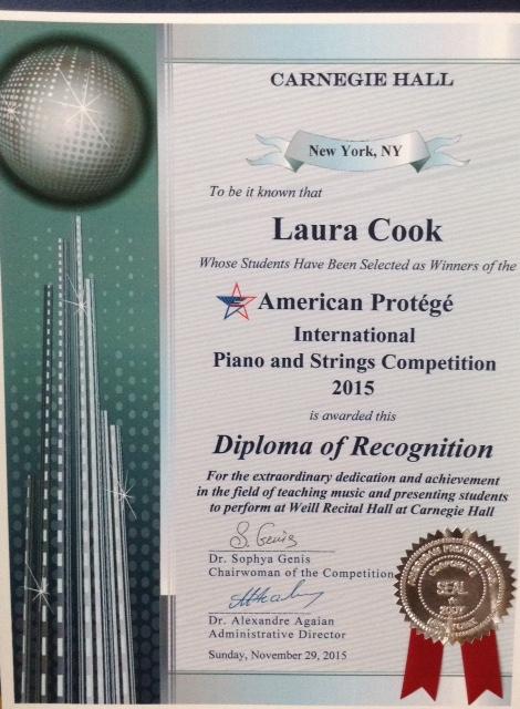 Carnegie Hall Certificate