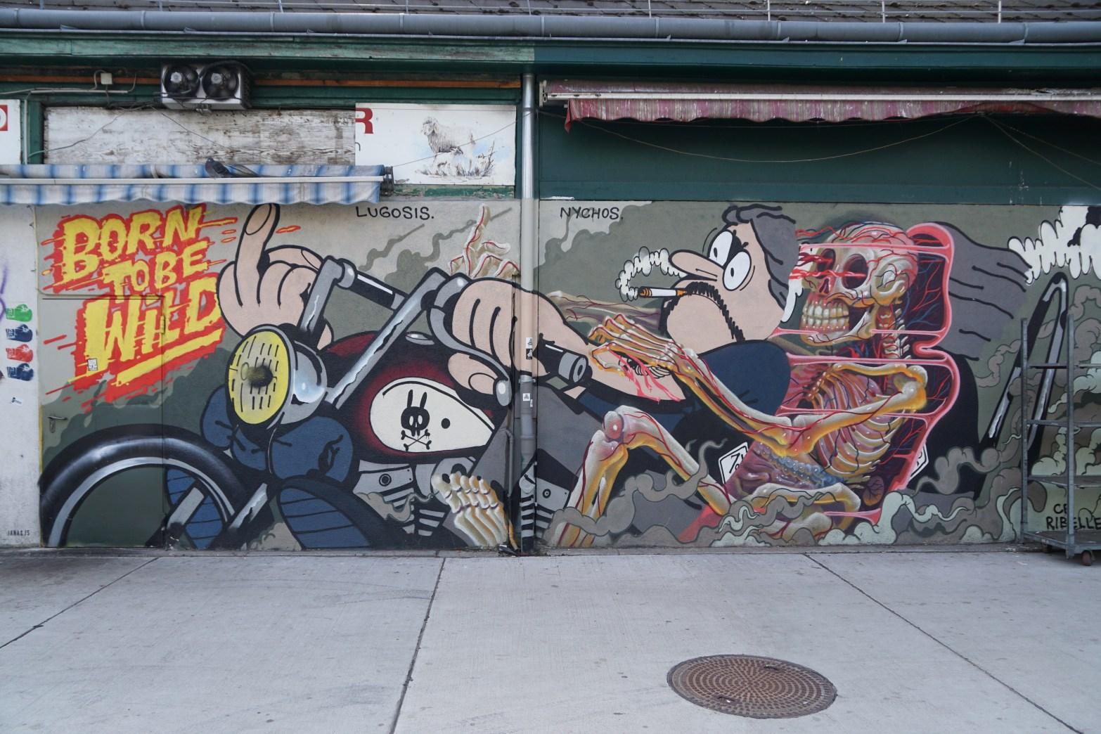 Grafitti am Naschmarkt, Location Musikvideo