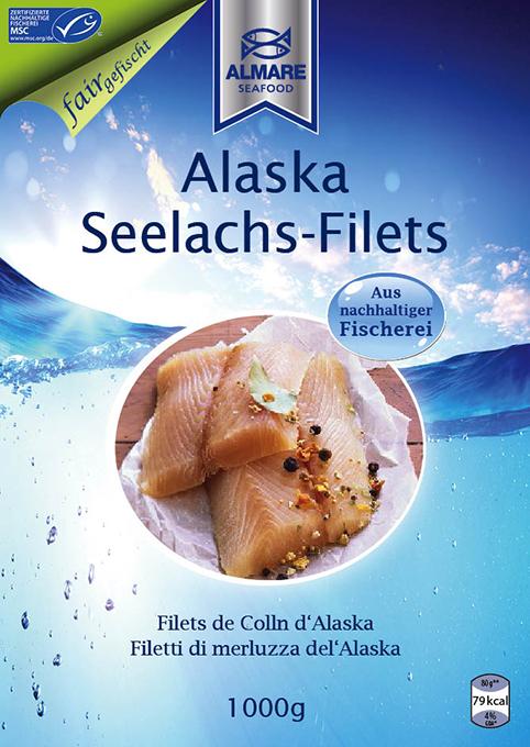 Packungsgestaltung Alaska Seelachs-Filet