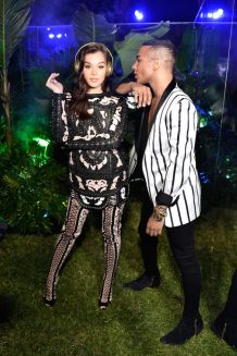 Olivier Rousteing and Hailee Steinfeld