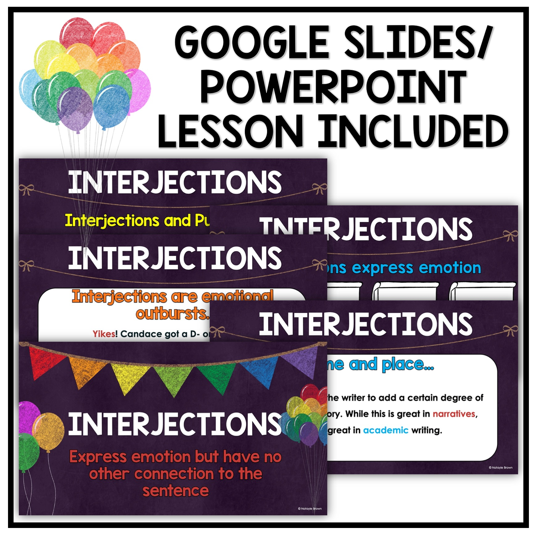 Interjections For Middle School