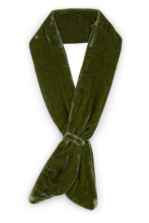 Green Cotton Velvet Neckerchief - Velvet Neckerchief (Green)