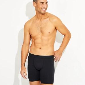 Men's Black Extended Boxer Brief XL