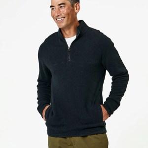 Men's Charcoal Heather 1/4 Zip Pullover M