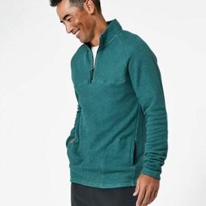 Men's Mallard Heather 1/4 Zip Pullover M