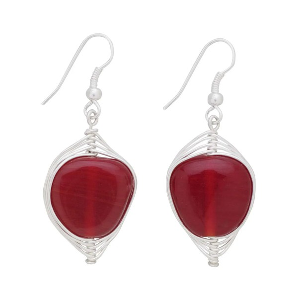 Vibrant Glass Beads Earrings - Rapt Heart Earrings