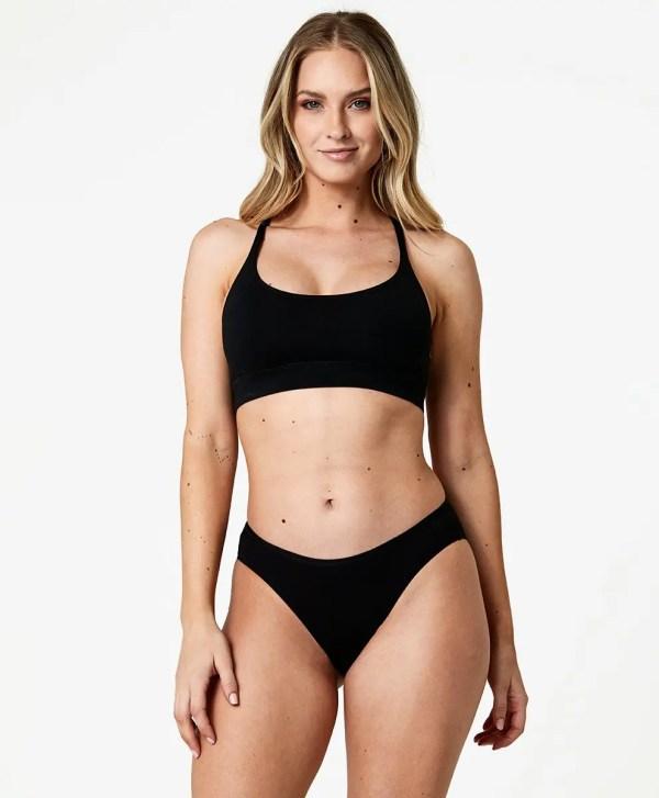 Women's Black Classic Fit Bikini XXL