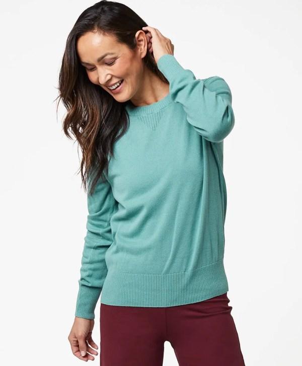 Women's Blue Spruce Sweater Sweatshirt M