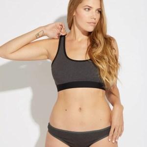 Women's Charcoal Heather Classic Fit Bikini M