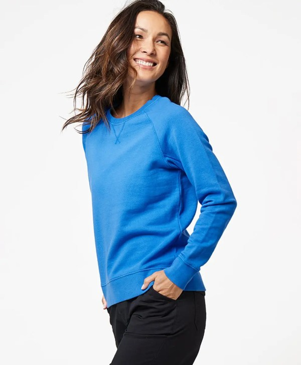 Women's Cobalt Essential Sweatshirt 2X