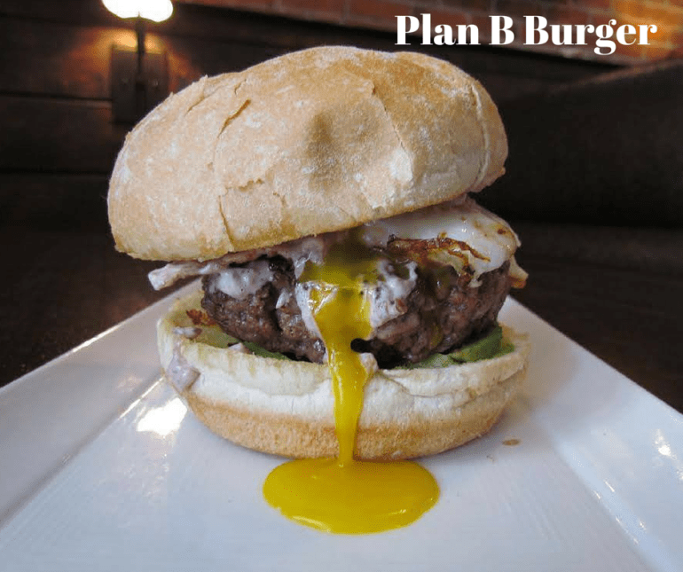 Plan B Burger (230 Tresser blvd); some may think this is the cheap way out, but frankly Plan B Burgers has a complete burger menu that we just love. The burgers here are always fresh ground, in house. They don't use antibiotics, they dont freeze the beef. You just cant go wrong with any of the burgers here.
