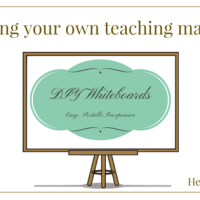Creating your own teaching materials - DIY Whiteboards