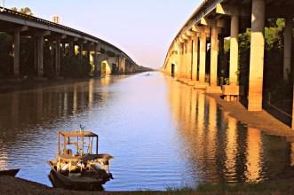 Early morning fisherman in the Louisiana bayous
