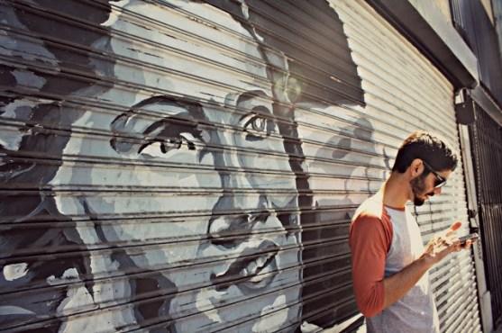 LA street art and Jeremy on Maps