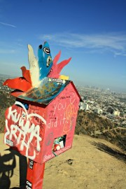 The true heart of LA sits above its skyline: though old and tattered with graffiti and trash, the vibrancy and positive encouragement make you feel warm and welcomed.