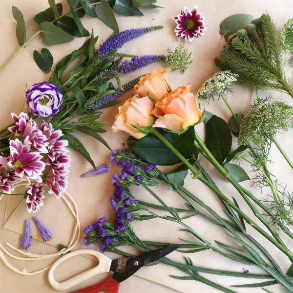 Create your own daily fresh flower posy