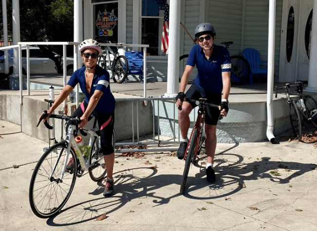 ready to ride out for some hill country cycling from Jack and Adams Bike shop in downtown Fredericksburg