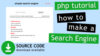 Make a Simple Search Engine with PHP (HTML & MySQL)